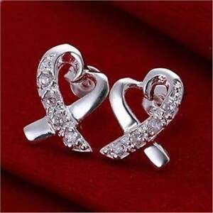 925 Crystal Heart Earrings Casula Liverpool Area Preview