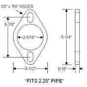 2 1/4 Exhaust Flange