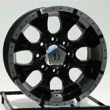 16 inch Black Wheels Rims Chevy GMC 2500 3500 HD Dodge RAM 8x6 5 Lug Helo Maxx 8