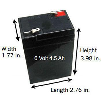 6 Volt 4.5 Ah Sealed Lead Acid Rechargeable Battery - F1 Terminal [SLA-6V4-5]