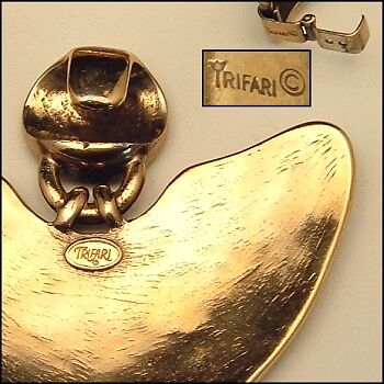Trifari Pendant Necklace with Mixed Marks