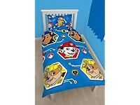 Paw patrol single duvet set, reversible.