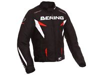 Almost like New, Motorcycle Bering Fizio Textile Jacket Black/Red RRP £129.99