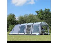 Kampa Hayling 6 Air Tent with vestibule, footprint, carpets and large amount of accessories