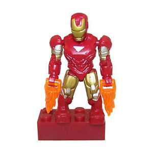 IRON MAN Marvel Series 1 Mega Bloks mini fig figure MIP!