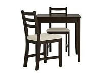 Ikea Lehramn Table and 2 Chairs - Free delivery!