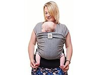 Premium Baby Carrier | Neutral Grey | One Size Fits All | Cozy & Soothing For Babies |