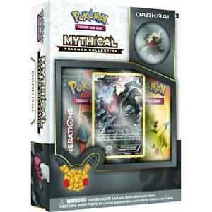 Pokemon Darkrai, Jirachi, Mew, Celebi Mythical Collection Boxes
