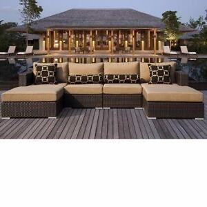 Enssemble de sofa extérieur 6 pièces (MS008)