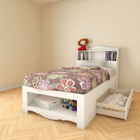 Chambre à coucher enfant (blanc) - Children bedroom set (white)