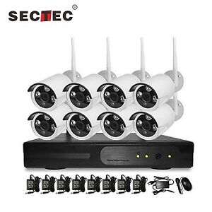 KIT 8 CAMERAS SECURITE + DVR - SECURITY CAMERAS - WIFI SANS FIL
