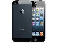 NEW APPLE IPHONE 5 16GB BLACK FACTORY UNLOCKED Free case+Glass protector