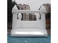 White wedding bouncy castles