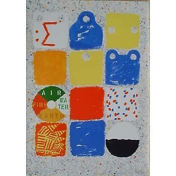 Limited edition print by Joe Tilson signed and numbered.
