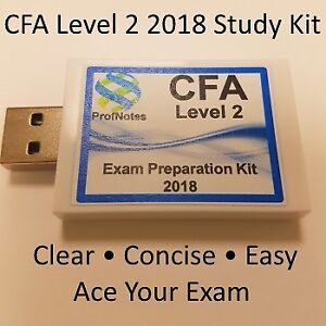 Chartered Financial Analyst CFA L2 2018 Kaplan Schweser Kit
