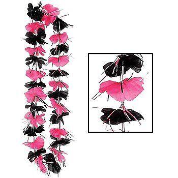 Pink & Black Party Lei - Pink Leis