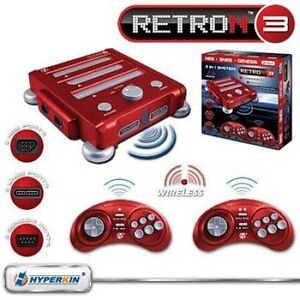 New Hyperkin Retron 3 Video Game Console for NES/SNES/GENESIS Vector Red