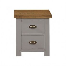 Grey Painted Bedside Cabinets
