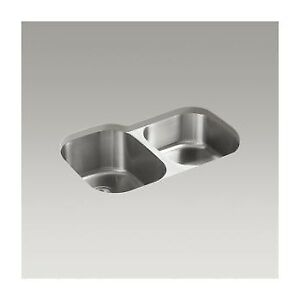 Kohler K3150 Undertone 31 x 20 Undermount Double Bowl Kitchen Si