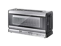 Russell Hobbs Glass Line 2-Slice Toaster 21310 - NEW