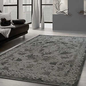 Mirren Collection Grey and Charcoal Area Rug - $220