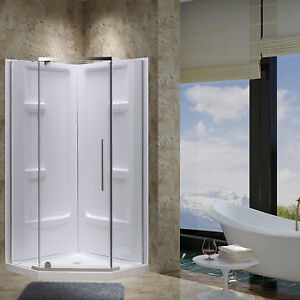 douche en coin complete 38x38 shower corner 38x38