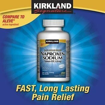 Kirkland Naproxen Sodium 220Mg 400 Caplets Nsaid Compare To Aleve Arthritis Pain