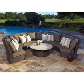 6 Months old Large Circular Garden Seating Set from Costco