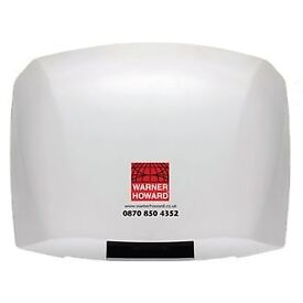 Warner Howard Automatic Hand Dryer White brand new boxed x 2