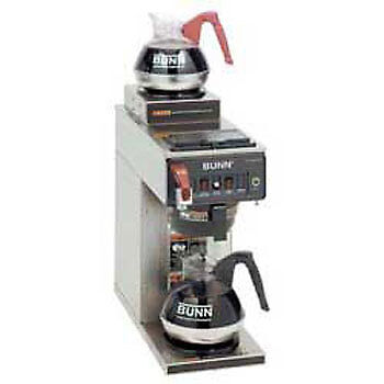 Automatic Commercial Coffee Brewer Whot Water Faucet 2 In-line Warmers 120v