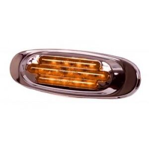 ***CHROME OVAL AMBER CLEARANCE MARKER LIGHT***