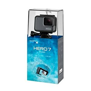 GoPro HERO7 Silver Touch Screen 4K HD 10MP Camera (Sealed)