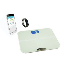 Bluetooth® activity bracelet + personal BMI scales