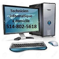 Dépannage et Réparation a domicile ordinateur et Laptop