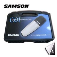 Samson co1 condenser microphone/mic stand & cable wire