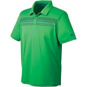 Adidas Mens Climacool Chest Print Polo