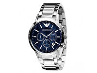 Armani Watch AR2448 Classic Blue Silver Mens Watch Only £99 and RRP is £299