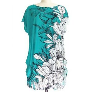Brand New-Never Worn-Short Sleeve Floral Print Loose-Fitting T-S