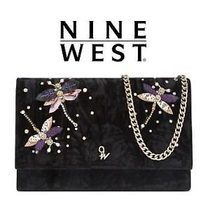 NEW NINE WEST CLUTCH BAG 60472804-IPP 195972694 ANNDI DRAGONFLY PURSE