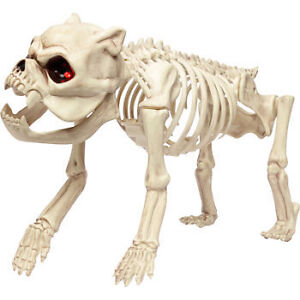 Halloween - Skeleton Dog with LED Eyes and Timer Function