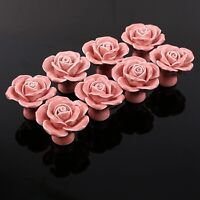 Shabby Chic Rose Shaped Ceramic Furniture Pull/Knobs