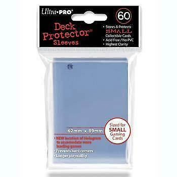 60 Card Sleeves Small Clear