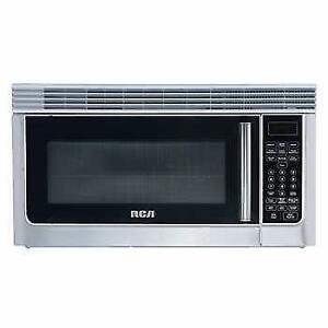 STAINLESS STEEL OVER THE RANGE MICROWAVE AND HOOD FAN--- BEST DEAL IN THE GTA!!