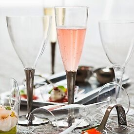 10 pack disposable high quality champagne drinks glasses
