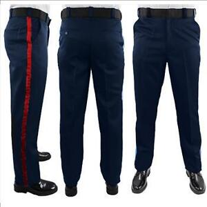 Black / Navy Cargo Uniform Pants Red Stripe - NEW
