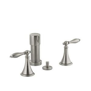Kohler 316-4M-BN Finial Traditional Bidet Faucet With Lever Hand