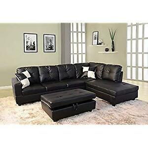 Beverly Fine Furniture F091A Right Facing Russes Sectional Sofa Set with Ottoman NEW ** 5 CORNERS FURNITURE **