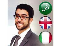 Translator, Interpreter and Private Tutor - English , Italian , Arabic