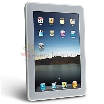NEW Clear White Silicone Cover Case for Apple iPad I /wifi