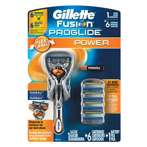 Gillette Fusion ProGlide Flexball Power Razor with 6 Cartridges